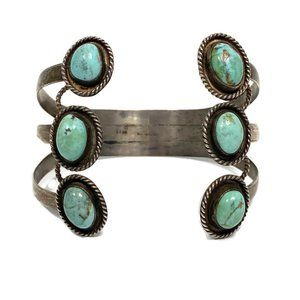 Jewelry - Sterling 925 Turquoise Adjustable Cuff Bracelet